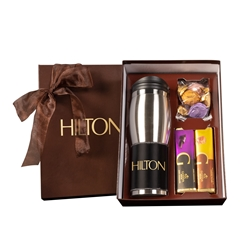 Godiva Tumbler Gift Set holiday gifts, holiday food gifts, corporate holiday gifts, gift sets, chocolate gifts, employee appreciation, employee recognition, holiday parties, Godiva, logo drinkware set