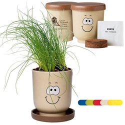 Goofy Group™ Grow Pot Eco Chives Herb Planter | Care Promotions