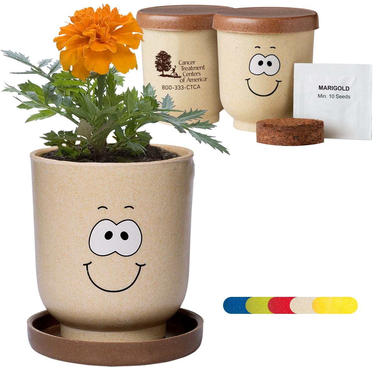 Goofy Group™ Grow Pot Eco Marigold Flower Planter