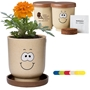 Goofy Group™ Grow Pot Eco Marigold Flower Planter | Care Promotions