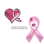 Hope Pink Ribbon & Heart Lapel Pin | Breast Cancer Awareness Merchandise | Care Promotions