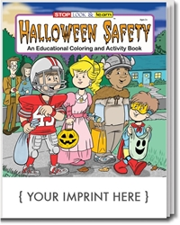 Halloween Safety Coloring & Activity Book promotional coloring book, Halloween giveaways, Halloween promotional items, Halloween safety promotional items, public safety promotional items, Halloween coloring book, Halloween promotional products, police department giveaways, fire department giveaways