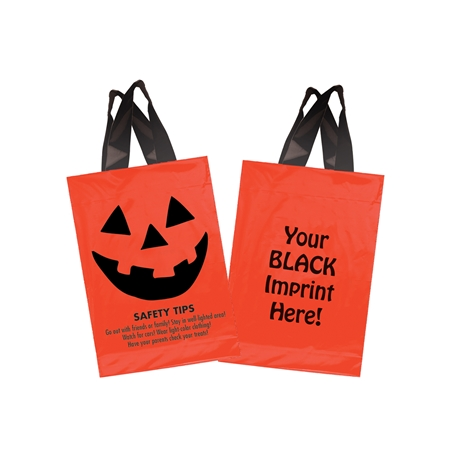 Halloween Safety Tips Soft Loop Handle Bag | Care Promotions