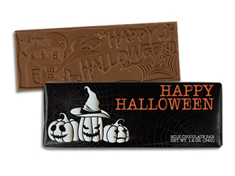 Happy Halloween Chocolate Bar | Halloween Giveaways | Care Promotions