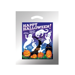 Happy Halloween Custom Reflective Trick or Treat Bags | Care Promotions