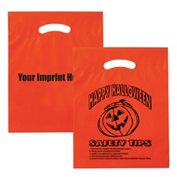 Custom Happy Halloween Safety Tips Plastic Bag | Care Promotions