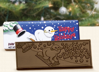 """Happy Holidays!"" Chocolate Bar Employee Appreciation, Employee Recognition, Holiday Gifts, Business Gifts, Corporate Gifts, Holiday Parties, chocolate,"