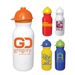 Custom Hard Hat 20 oz. Bike Bottle | Care Promotions