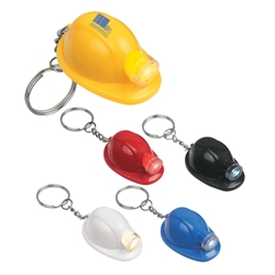 Hard Hat LED Key Chain Hard Hat LED Key Chain, Hard, Hat, LED, Light, Key, Chain, Tag, Ring, Imprinted, Personalized, Promotional, with name on it, giveaway,