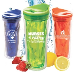 Healthcare Appreciation Prism Tumblers    Healthcare theme, nursing theme, nurses theme, caring theme, tumbler, crystal style, prism, glacier, tumbler, beverage holder, travel tumbler, drinkware, sporty, promotional products