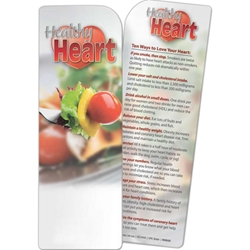 Healthy Heart Bookmark Healthy Heart Bookmark, BetterLifeLine, BetterLife, Education, Educational, information, Informational, Wellness, Guide, Brochure, Paper, Low-cost, Low-Price, Cheap, Instruction, Instructional, Booklet, Small, Reference, Interactive, Learn, Learning, Read, Reading, Health, Well-Being, Living, Awareness, Book, Mark, Tab, Marker, Bookmarker, Page holder, Placeholder, Place, Holder, Card, 2-side, 2-sided, Page, Man, Men, Guy, Dude, Male, Exercise, Fitness, Healthy, Eating, Nutrition, Diet, Check-Up, Body, Fat, Muscles, Lean, Heart, Doctor, First Aid, Imprinted, Personalized, Promotional, with name on it, Giveaway,
