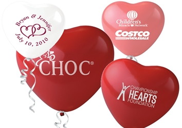 Heart Balloons Latex balloons, party goods, decorations, celebrations, heart shaped balloons, promotional balloons, custom balloons, imprinted balloons