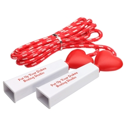 Heart Fitness Jump Rope heart promotional items, heart health giveaways, promotional jump rope, heart jump rope, american heart month, heart health education, cardiology giveaways, employee wellness