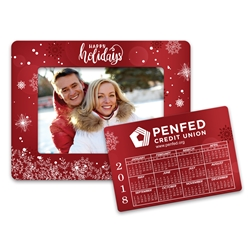 Promotional Holiday Calendar Picture Frame Magnet | Care Promotions