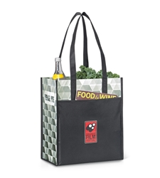 Horizons Laminated Shopper  Promotional, Imprinted, Laminated, Totes, Horizons, Shoppers, Supermarket, Tote, Shoulder Strap,