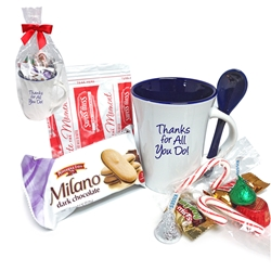 Thanks for All You Do Ceramic Mug & Treat Gift Set | Corporate Holiday Appreciation Gifts | Care Promotions