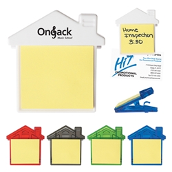 House Clip With Sticky Notes House Clip With Sticky Notes, House, Clip, with, Sticky, Notes, Imprinted, Personalized, Promotional, with name on it, giveaway,