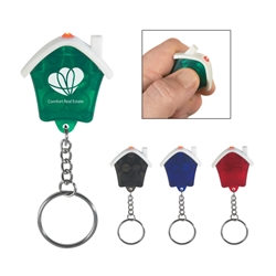 House Shape LED Key Chain House Shape LED Key Chain, House, Shaped, LED, Key, Chain, Ring, Tag, Light, Imprinted, Personalized, Promotional, with name on it, giveaway,