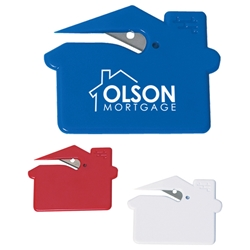 House Shape Slitter House Shape Slitter, House, Shape, Slitter, Letter, Opener, Imprinted, Personalized, Promotional, with name on it, giveaway,
