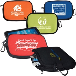 Housekeeping & Environmental Services Theme All-Purpose Accessory Pouches  Housekeeping, Environmental Services, EVS,  Theme ,Theme zip pouch, accessory zippered pouch, carabiner pouch, carabiner tec holder, carabiner phone holder,