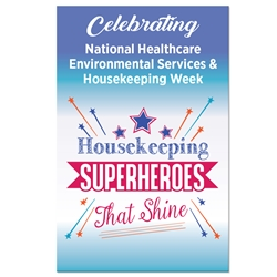 """Housekeeping: Superheroes That Shine"" Theme 11 x 17"" Posters (Sold in Packs of 10)  Housekeeping Week, International Housekeepers Week, Environmental Services Week, Theme, Posters, Poster, Celebration Poster, Appreciation Day, Recognition Theme Poster,"