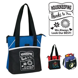 Housekeeping: Thanks To You We Always Look Our Best Bistro Insulated 6 to 8 Pack Cooler  Bistro Lunch Bag, Insulated Cooler, 8 pack cooler, 6 pack cooler, All Purpose, Elite, Zip, Polyester, Promotional Events, Trade Show Bags, Health Fair, Imprinted, Tote, Reusable, Recognition, Travel , imprinted
