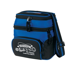 Housekeeping: Thanks To You We Always Look Our Best! Deluxe Chill Insulated 6 Pack Cooler  Chill insulated 6 pack cooler,  Lunch Bag, Insulated Cooler, 8 pack cooler, 6 pack cooler, All Purpose, Elite, Zip, Polyester, Promotional Events, Trade Show Bags, Health Fair, Imprinted, Tote, Reusable, Recognition, Travel , imprinted