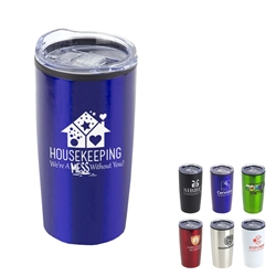 """Housekeeping: Were a Mess Without You!"" 20 oz. Stainless Steel & Polypropylene Tumbler  Housekeeping, Week, Housekeepers, theme, 20 oz tumbler, Imprinted Tumblers, Stainless Steel Tumblers, Care Promotions,"