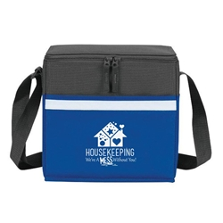 """Housekeeping: You Make Every Moment A Chance To Shine"" Two-Tone Accent 12-Pack Cooler    Housekeeping, Housekeepers, appreciation, week, recognition, gifts, bags, two tone, cooler, accent, lunch bag, 12 pack cooler, Promotional, Imprinted, Polyester, Travel, Custom, Personalized, Bag"