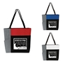 """Housekeeping: You Make Every Moment A Chance To Shine"" Color Block Pocket Zip Tote   Housekeeping, EVS,theme tote, Housekeeping Appreciation Tote, Housekeepers, Recognition, Color, block, Zip, Multi-Function, Luggage Loop Tote Bag, tote, Imprinted, Travel, Custom, Personalized, Bag"