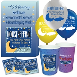 """Housekeeping: You Make Every Moment A Chance to Shine!"" Celebration Party Pack   Environmental Services, Housekeeping, Housekeepers, theme, Appreciation decoration pack,  Housekeeping Appreciation theme Party Pack, Housekeepers, Celebration Pack, EVS & Housekeeping, Celebration Pack,"