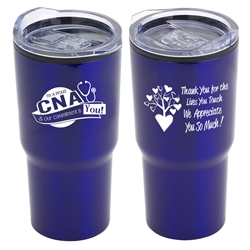 """Im a Proud CNA & My Commitment Is You!"" 20 oz Stainless Steel & Polypropylene Tumbler  CNA theme Tumbler, Nursing Assistants, Certified Nursing Assistants Theme Tumbler, Nurses Appreciation Tumbler, Nurses Travel Tumbler, Appreciation, recognition Gifts, 20 oz tumbler, Imprinted Tumblers, Stainless Steel Tumblers, Care Promotions,"