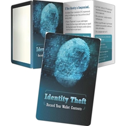 ID Theft: Record Your Wallets Contents Key Points ID Theft: Record Your Wallets Contents Key Points, Pocket Pal, Record, Keeper, Key, Points, Imprinted, Personalized, Promotional, with name on it, giveaway, BetterLifeLine, BetterLife, Education, Educational, information, Informational, Wellness, Guide, Brochure, Paper, Low-cost, Low-Price, Cheap, Instruction, Instructional, Booklet, Small, Reference, Interactive, Learn, Learning, Read, Reading, Health, Well-Being, Living, Awareness, KeyPoint, Wallet, Credit card, Card, Mini, Foldable, Accordion, Compact, Pocket, Financial, Debit, Credit, Check, Credit union, Investment, Loan, Savings, Finance, Money, Checking, Cash, Transactions, Budget, Wallet, Purse, Creditcard, Balance, Reconciliation, Retirement, House, Home, Mortgage, Refinance, Real