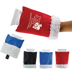 Ice Scraper Hand Mitten promotional ice scraper, hand warmer, corporate holiday gifts, plush ice scraper, mitten ice scraper, winter gifts, auto tools