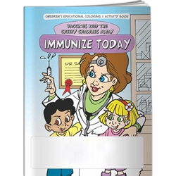 Immunize Today: Vaccines Keep the Creepy Crawlies Away Coloring Book Immunize Today: Vaccines Keep the Creepy Crawlies Away Coloring Book, Imprinted, Personalized, Promotional, with name on it, Giveaway, BetterLifeLine, BetterLife, Education, Educational, information, Informational, Wellness, Guide, Brochure, Paper, Low-cost, Low-Price, Cheap, Instruction, Instructional, Booklet, Small, Reference, Interactive, Learn, Learning, Read, Reading, Health, Well-Being, Living, Awareness, ColoringBook, ActivityBook, Activity, Crayon, Maze, Word, Search, Scramble, Entertain, Educate, Activities, Schools, Lessons, Kid, Child, Children, Story, Storyline, Stories, Cold, Flu, Virus, Germ, Bacteria, Influenza, Sickness, Sick, Tissues, Expecting, Mom, Mother, Baby, Birth, Child, Pregnancy, Pregnant, Trimester, Abor