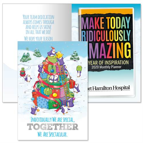 Teamwork Holiday Greeting Card & Planner | Care Promotions