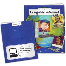 Internet Safety and Me All About Me (Spanish) Internet Safety and Me All About Me,  in Spanish, internet, Safety, Imprinted, Personalized, Promotional, with name on it, giveaway,