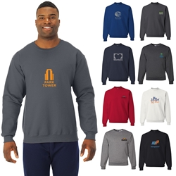 Jerzees NuBlend Crewneck Sweatshirt | Custom Apparel | Care Promotions