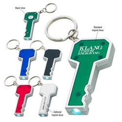 Key Shape LED Key Chain Key Shape LED Key Chain, Key, shape, LED, Light, Key, Chain, Tag, Ring, Imprinted, Personalized, Promotional, with name on it, giveaway,