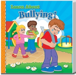Learn About Bullying Storybook promotional story book, anti-bullying promotional items, bullying prevention promotional products, bullying prevention month giveaways, bullying prevention month handouts, law enforcement giveaways, school bullying handouts