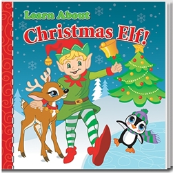 Learn About Christmas Elf Storybook promotional story book, recycling promotional items, earth day giveaways, earth day promotional products, recycling promotions, eco friendly giveaways for kids
