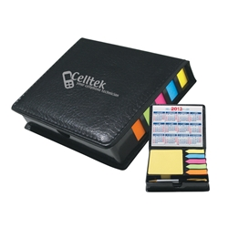 Leatherette Case of Sticky Notes, Calendar & Pen Leatherette Case of Sticky Notes, Calendar & Pen, Leatherette, Case, of, Sticky, Notes, Flags, and, Pen, Imprinted, Personalized, Promotional, with name on it, giveaway,