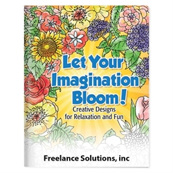 Let Your Imagination Bloom! Adult Coloring Book Coloring Books for Adults, Stress Relief, Adult Coloring Books, promotional coloring books