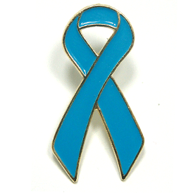 Light Blue Ribbon Lapel Pin | Prostate Cancer Awareness Giveaways | Care Promotions