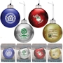 Light Up Glass Ornament promotional holiday ornament, promotional christmas ornament, custom print ornament, custom logo light up ornament, corporate holiday gifts, employee appreciation gifts, LED ornament, glass ornament