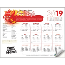 Make Your Home Fire Safe Adhesive Wall Calendar | Care Promotions