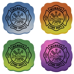 Maltese Cross Mood Eraser maltese cross, junior firefighter, fire department, fire prevention, fire prevention week, fire prevention giveaways, fire safety promotional products, school supplies