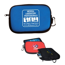 """Medical Laboratory Professionals: Were Better At What We Do & Its All Because of You!"" All-Purpose Accessory Pouch   Medical Laboratory Theme, accessory zippered pouch, carabiner pouch, carabiner tec holder, carabiner phone holder,"