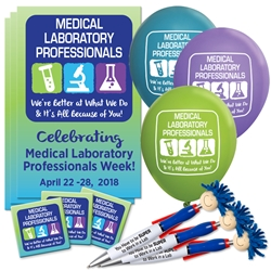 """Medical Laboratory Professionals: Were Better At What We Do & Its All Because of You!"" Celebration & Appreciation Pack Poster, Buttons, Pens, Cups, Celebration Pack, Medical Laboratory Week theme Celebration Pack"