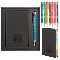 """Medical Laboratory Professionals: Were Better at What We Do & Its All Because of You!"" Rainbow Journal & Soft Pen Gift Set  Medical Lab Theme, Gift Set, Rainbow page, journal. Pen, set, laser, engraved, Journal and Pen Set, Imprinted, Personalized, Promotional, with name on it"